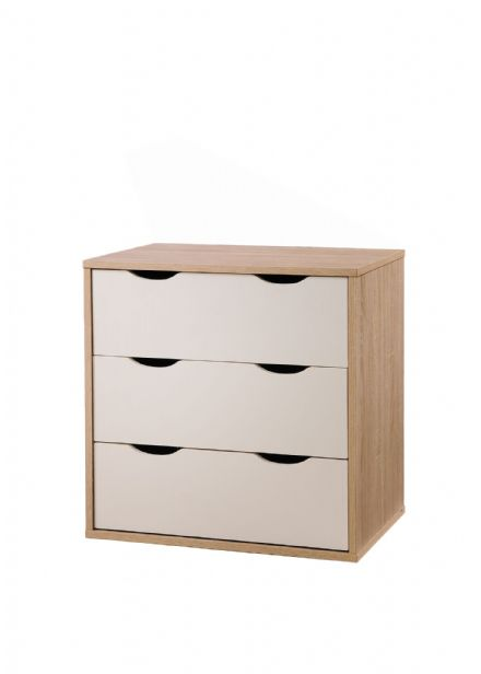 Alton 3 Drawer chest Oak